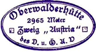 Oberwalderhütte, Hüttenstempel