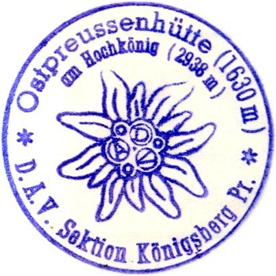 Ostpreußenhütte, Hüttenstempel