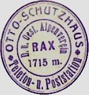 Otto-Schutzhaus, Hüttenstempel