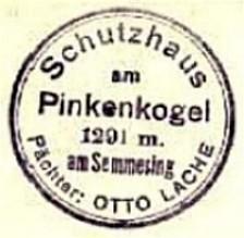 Pinkenkogel Schutzhaus, Hüttenstempel