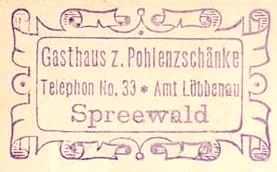 Pohlenzschänke - Spreewald