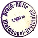 Prasch Hütte, Hüttenstempel