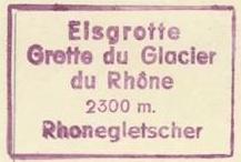 Rhone Gletscher, Stempel