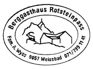 Rotsteinpass Hütte - Appenzeller Alpen