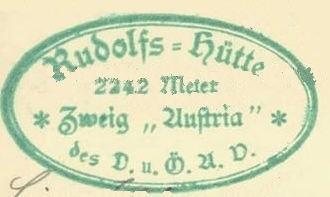 Rudolfshütte, Hüttenstempel