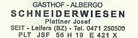 Schneiderwiesen - Fleimstaler Alpen