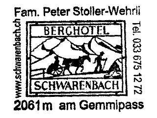 Schwarenbach - Berner Alpen