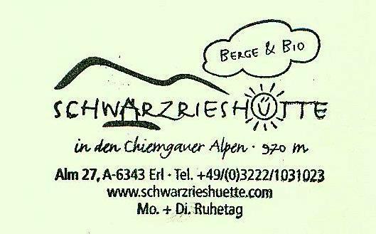 Schwarzrieshütte - Chiemgauer Alpen