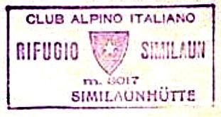 Similaunhütte, Hüttenstempel