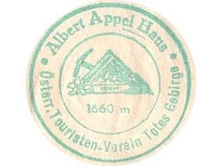 Hüttenstempel Albert Appel Haus