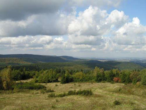 Aussicht vom Preußischen Velmerstot in Richtung Nordosten
