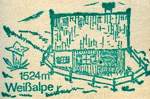 Weißalpe Hüttenstempel