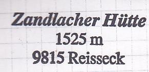 Zandlacher Hütte - Reißeckgruppe