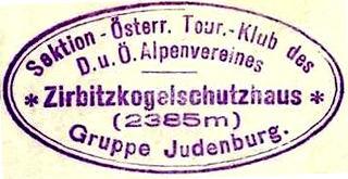 Zirbitzkogel Schutzhaus, Hüttenstempel