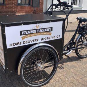 Hyams Bakery cargo bike delivery