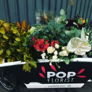 Flowers delivered by cargo bike