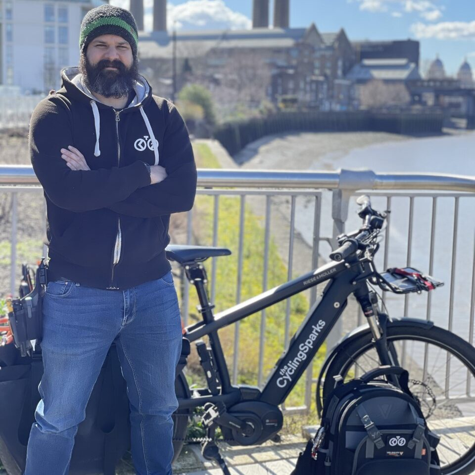 cycling electrician in London