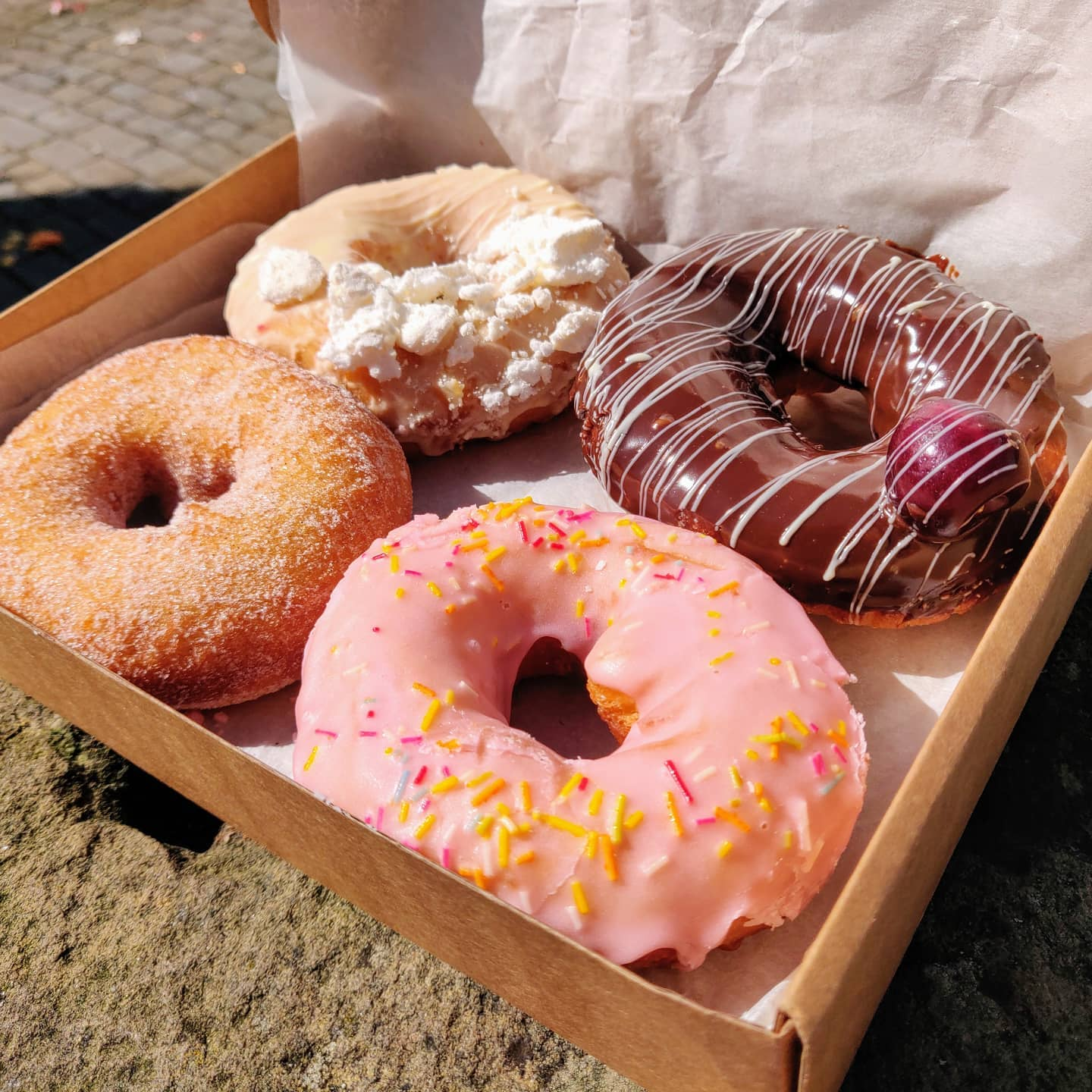 Doughnuts delivered by cargo bike