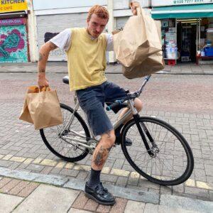 vegan food delivered by bike in Peckham