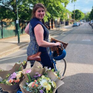 Francis Smith flowers delivered by bike