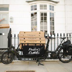 Freddies Flowers delivered by cargo bike