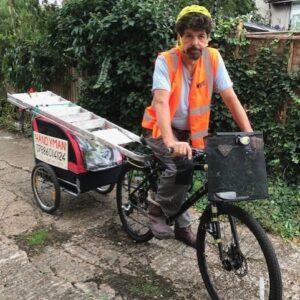 Handyman on a bike London