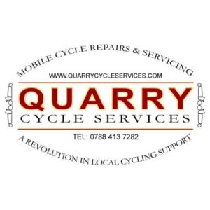 Quarry bike repairs by cargo bike