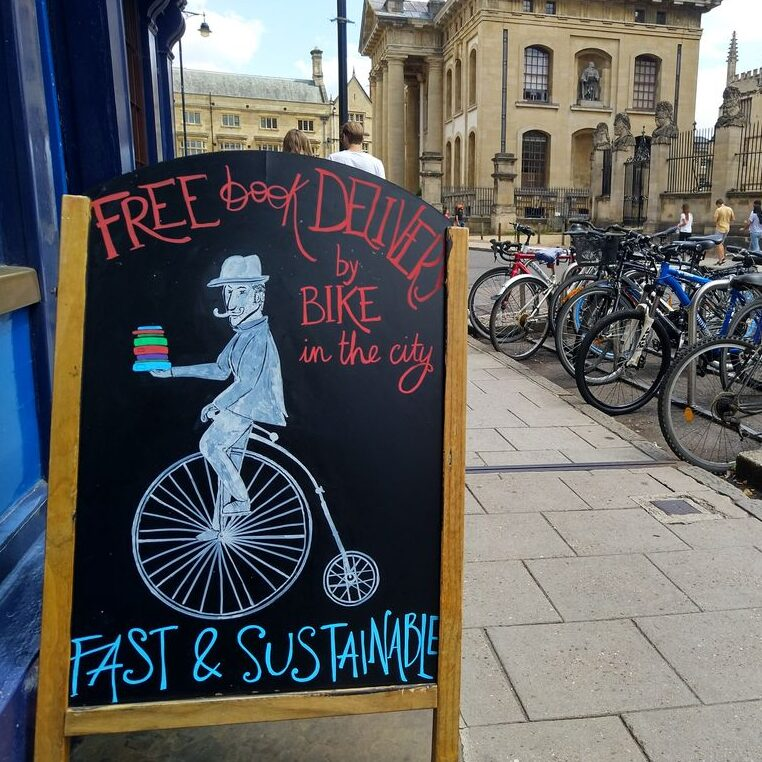 Books delivered by bike in Oxford