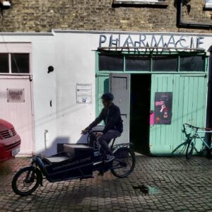 Pharmacie coffee delivered by cargo bike in Brighton