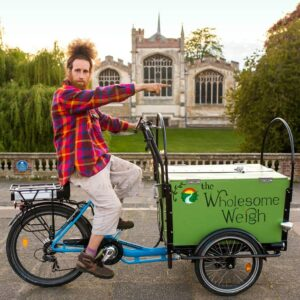 The Wholesome Weigh plastic free deliveries by cargo bike