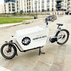 Cargo bike chai delivery Bath