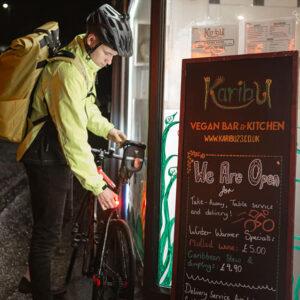 Karibu vegan food delivered by bike Stroud