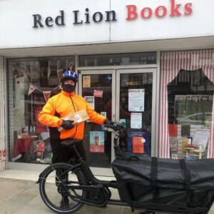 books delivered by cargo bike Colchester