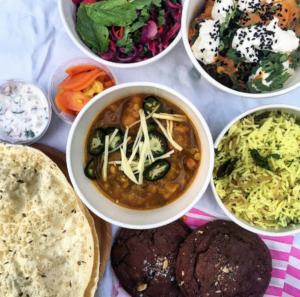 Indian food delivered by cargo bike Edinburgh