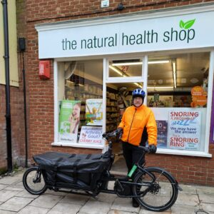 health food delivered by cargo bike Cheltenham