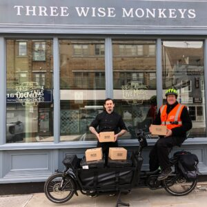food delivered by cargo bike in Colchester