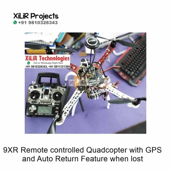 9XR Remote controlled Quadcopter with GPS and Auto Return Feature when lost
