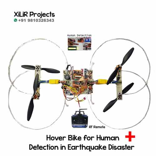 Smart Hover Bike for Human Detection in Earthquake Disaster