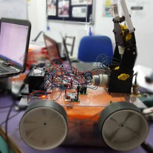 PC Controlled Mine Detecting & Disposable Robot using Zigbee 1km range