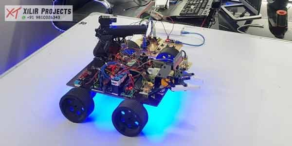 Wireless Robotic Tank using RF Communication for Missile Detection