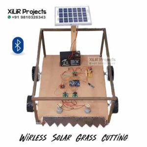 Wireless Solar Grass Cutter Engineering Project