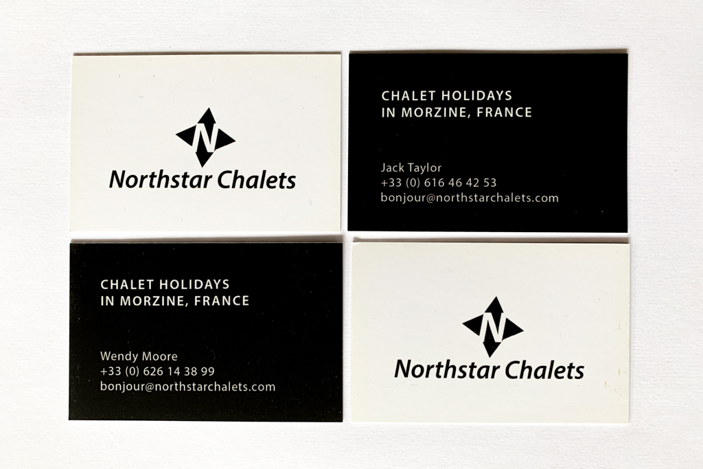 Northstar chalets business cards
