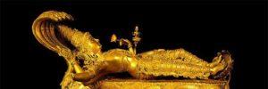 Golden Vishnu in Padmanabhaswamy Temple