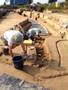 Archaeologists in Herxheim carefully excavated the remains of more than 500 people. The bones show marks of experts butchery -- scrapes and cuts from where the meat was cut off. The researchers expect to find the bones of a further 500 bodies