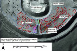 A geophysical 'x-ray' Picture showing the structures which have lain buried in the ground for more than 700 years