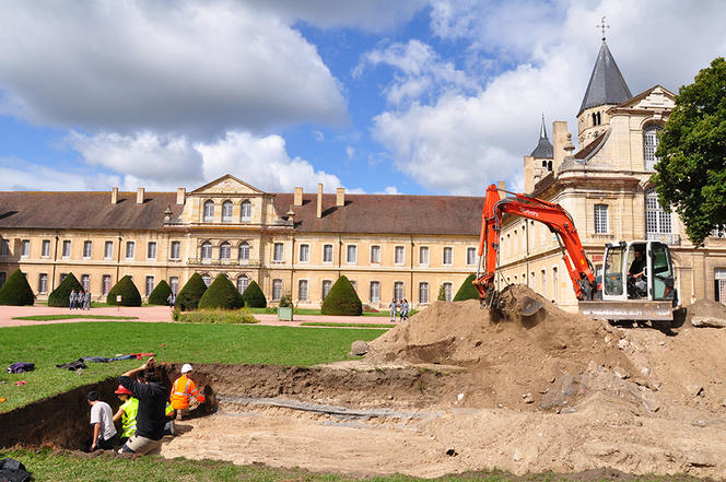 Excavation site at the Abbey of Cluny (Saone-et-Loire). The researchers were initially interested in the building's infirmary, before accidentally discovering the treasure.