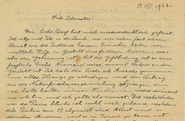 Einstein Letter Warns of German Anti-Semitism 10 Years Before Nazis' Rise to Power
