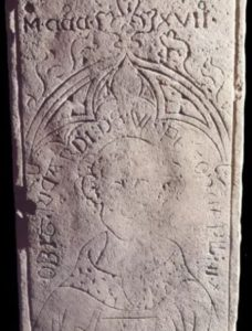 The unusually well-preserved and detailed grave slab of Richard de Wispeton buried at Thornton Abbey – photo courtesy University of Sheffield