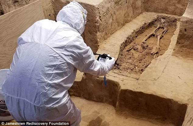 A headless skeleton discovered at a 400-year-old church in Jamestown, Virginia may belong to one of the first slave-owning politicians in the United States. Archaeologists suspect the bones may be the body of Sir George Yeardley