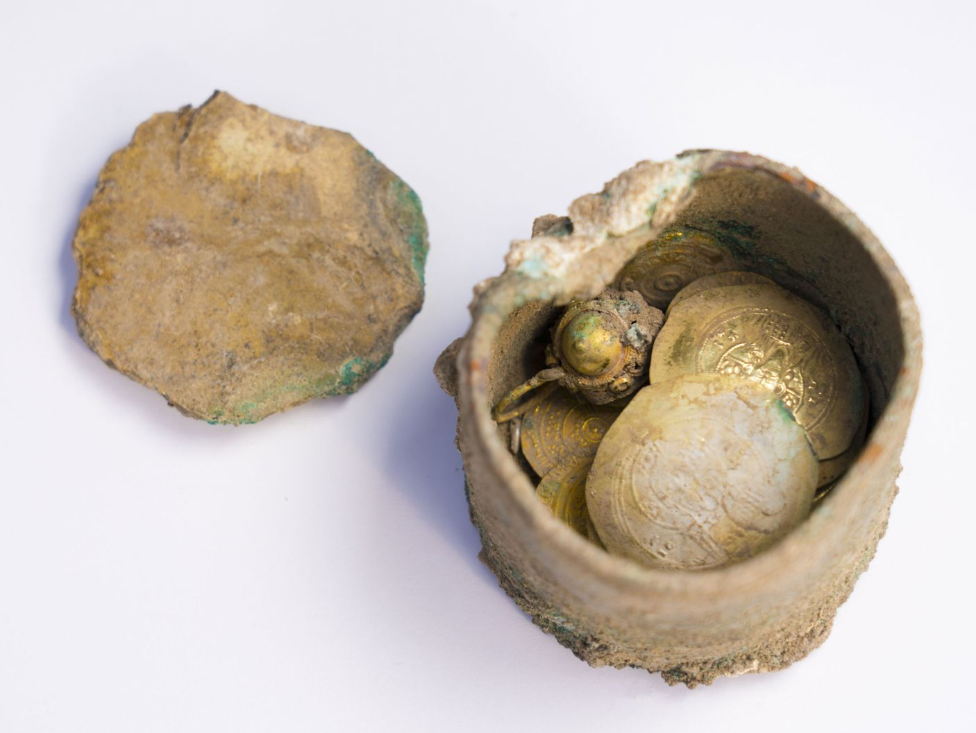900-year-old treasure hoard discovered in Caesarea Israel.